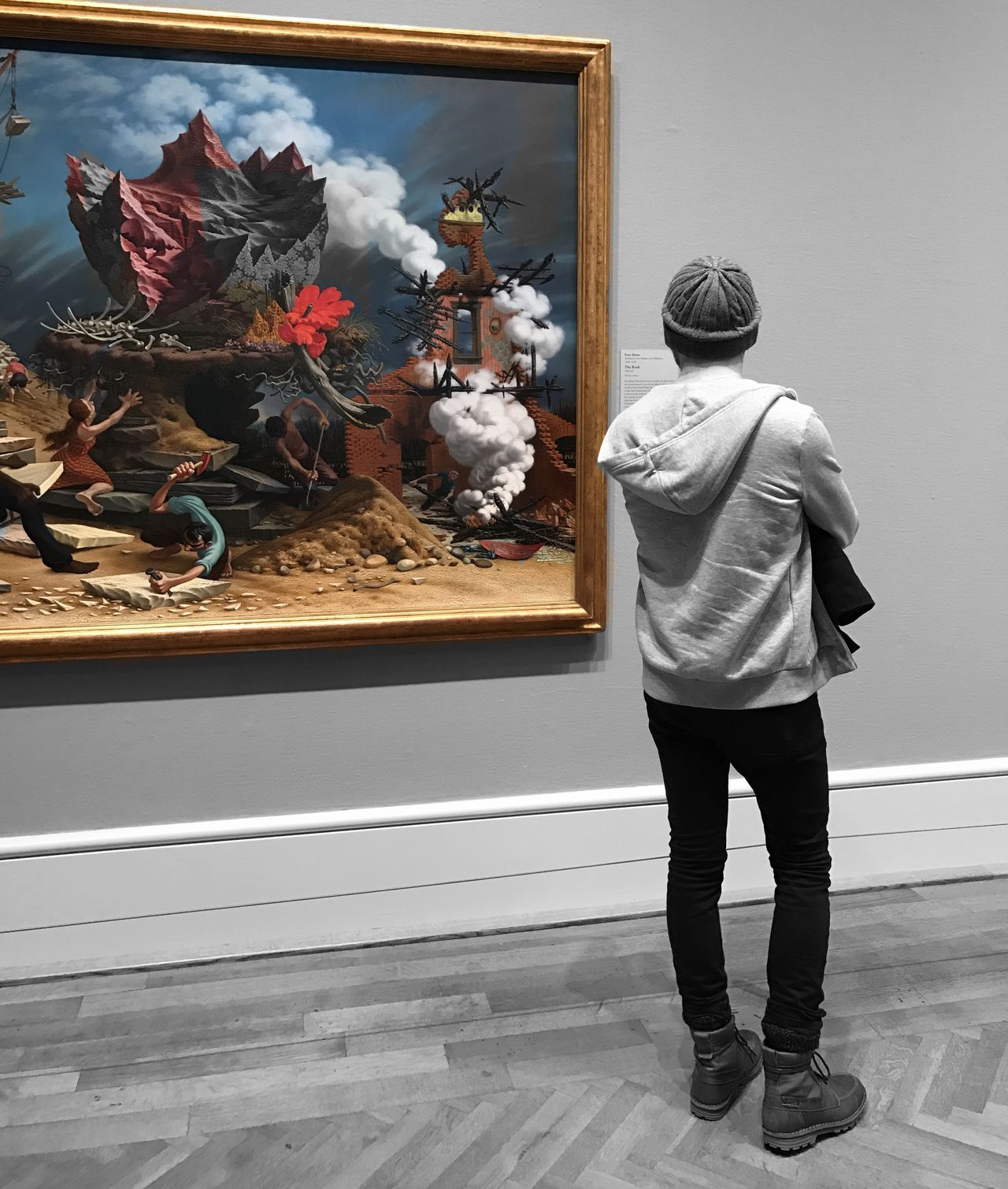 The Rock Destruction Reconstruction 🌋🌋Peter Blume 💨⚡️ Artist Art Gallery Oil Painting Chicago Art Institute Of Chicago People People Watching Museum Loop Urbanexploration Urban Culture Art Appreciation Observing Urbanphotography IPhoneography City Life Explore EyeEm Best Shots EyeEm Gallery EyeEmBestPics One Man Only 🔥🔥⚡️