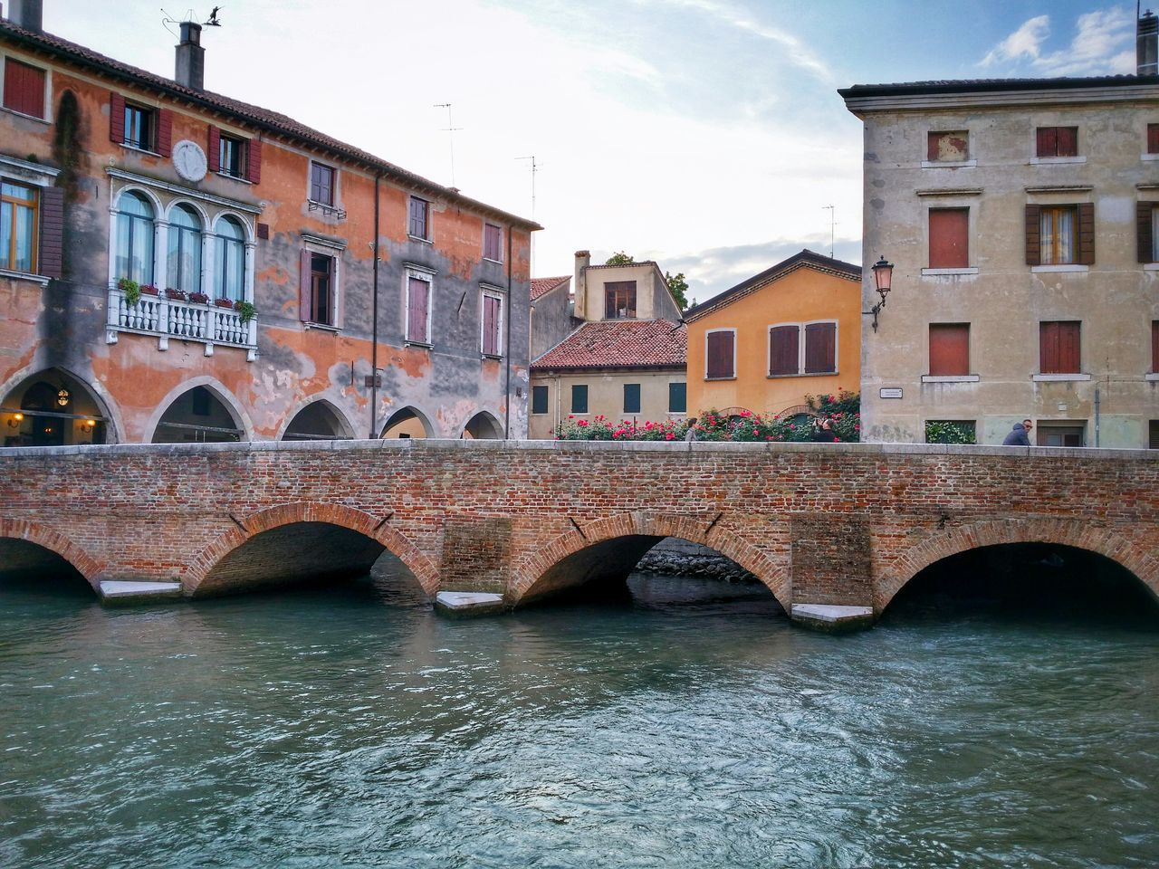 Treviso Veneto Italy Travel Photography Travel Voyage Traveling Mobile Photography Fine Art Backlight Architecture Historical Buildings Bridges Rivers Reflections And Shadows Mobile Editing