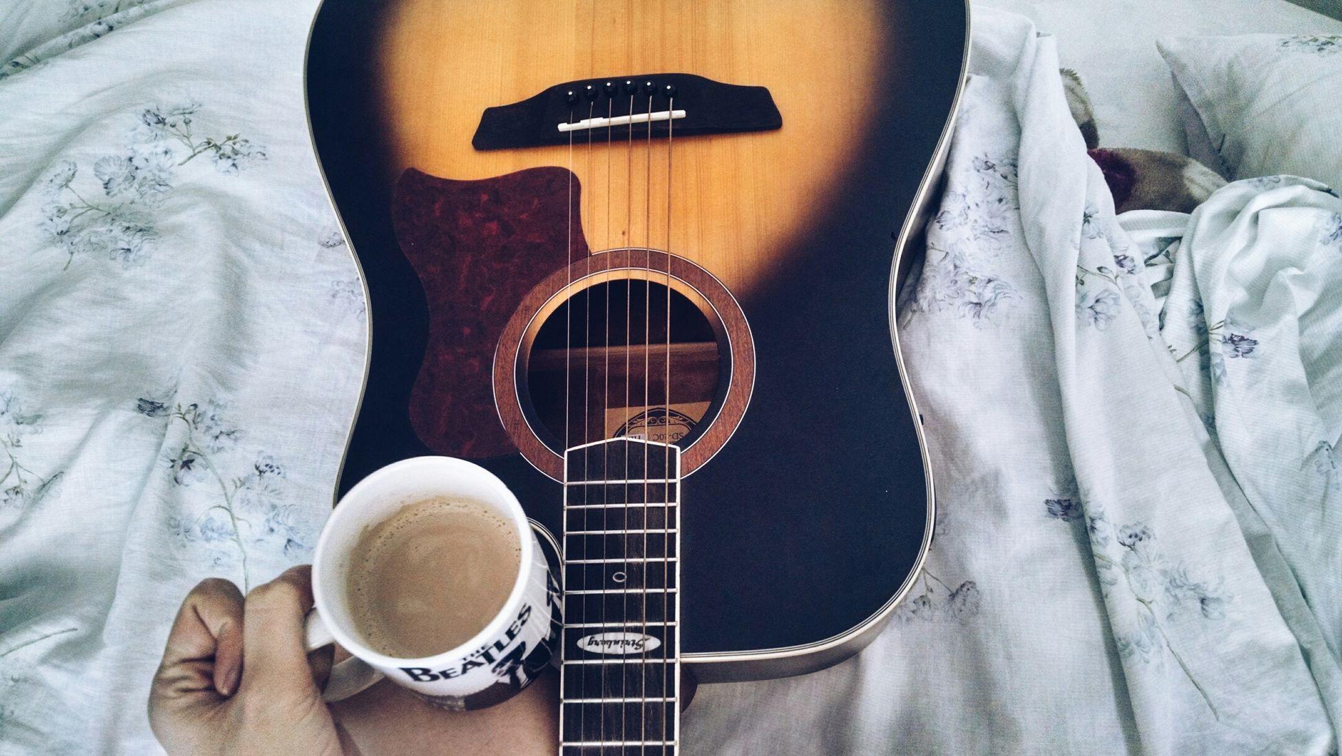 Guitar Music My Guitar Acoustic Guitar Song Playthemusic Coffee Strinberg