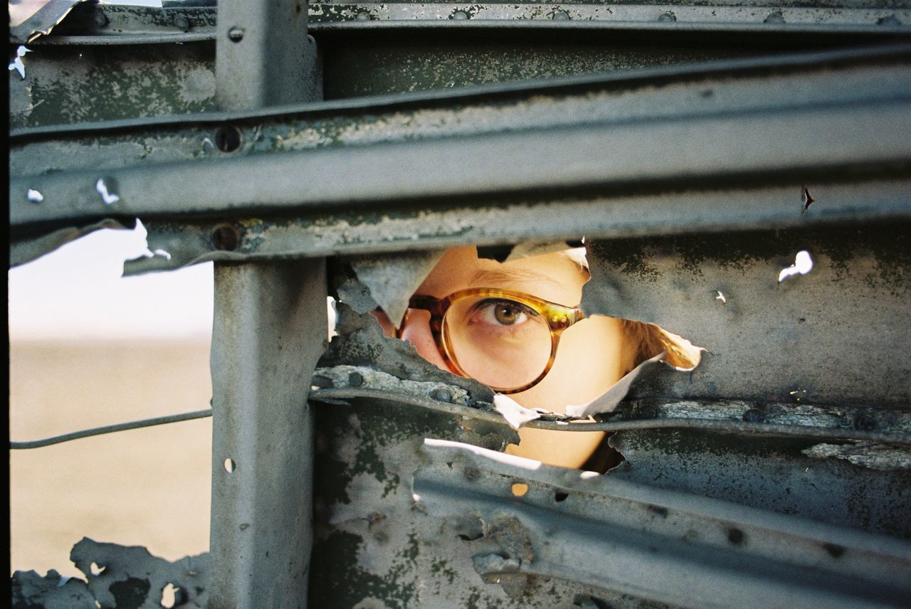One Person Real People Built Structure Day Young Adult Architecture Headwear Outdoors Young Women Close-up Military People Hide And Seek Film Photography Filmisnotdead 35mm Break The Mold TCPM