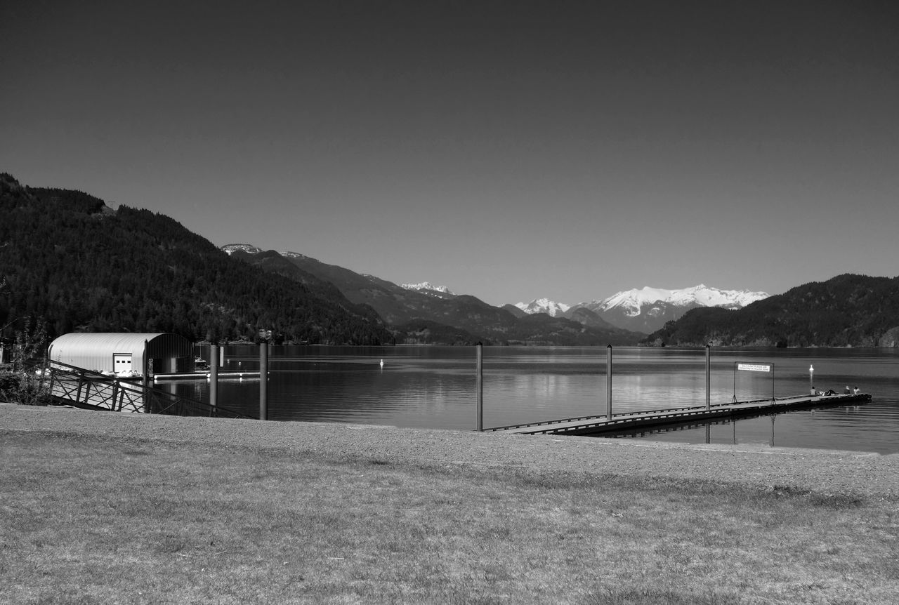 Landscape Lake Lakeshore Mountains Snowcapped Mountain Blackandwhite Black & White Black&white Black And White