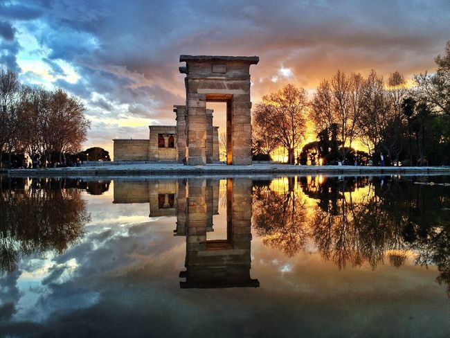 Templo de Debod The Moment - 2015 EyeEm Awards The Traveler - 2015 EyeEm Awards Water Reflections IPhoneography Youmobile Mobilephotography AMPt_community Iphoneonly NEM Architecture The Architect - 2015 EyeEm Awards