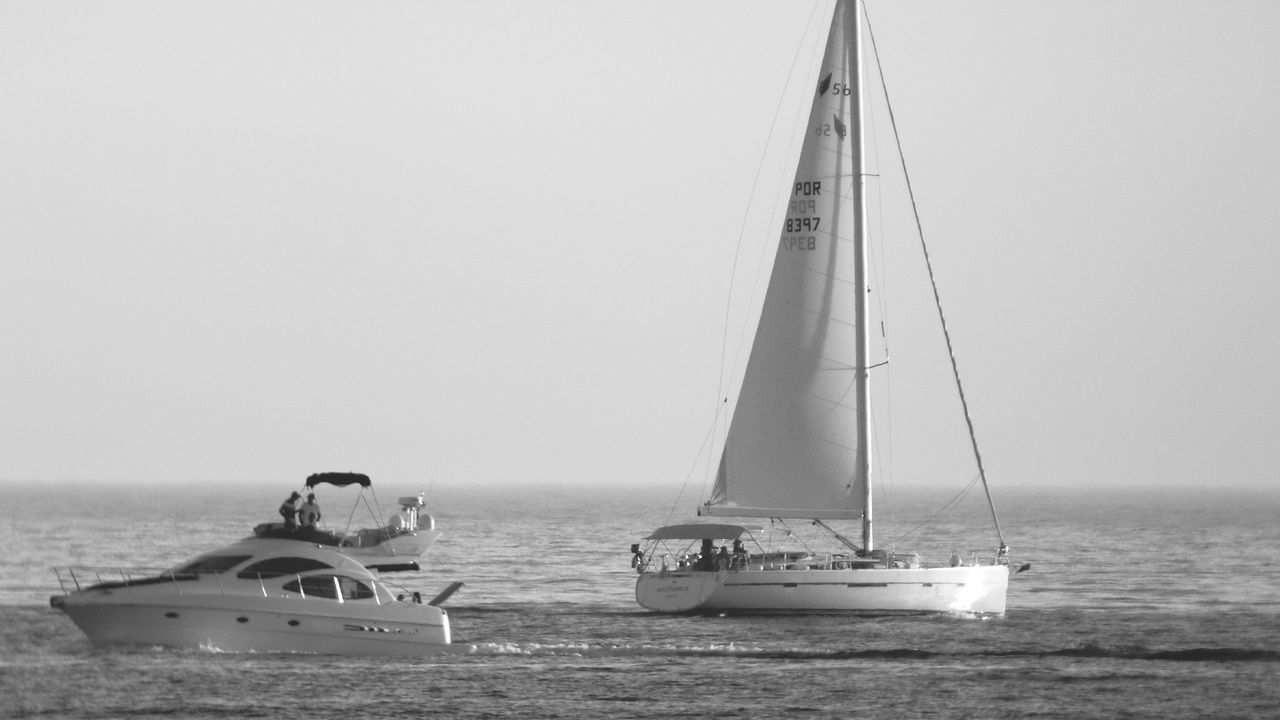 Sailboat Nautical Vessel Sea Sailing Yacht Sailing Ship Crew Day Sailor Water Tall Ship Yachting Regatta Outdoors Sky Monochrome _ Collection Monochrome_life Black And White Collection
