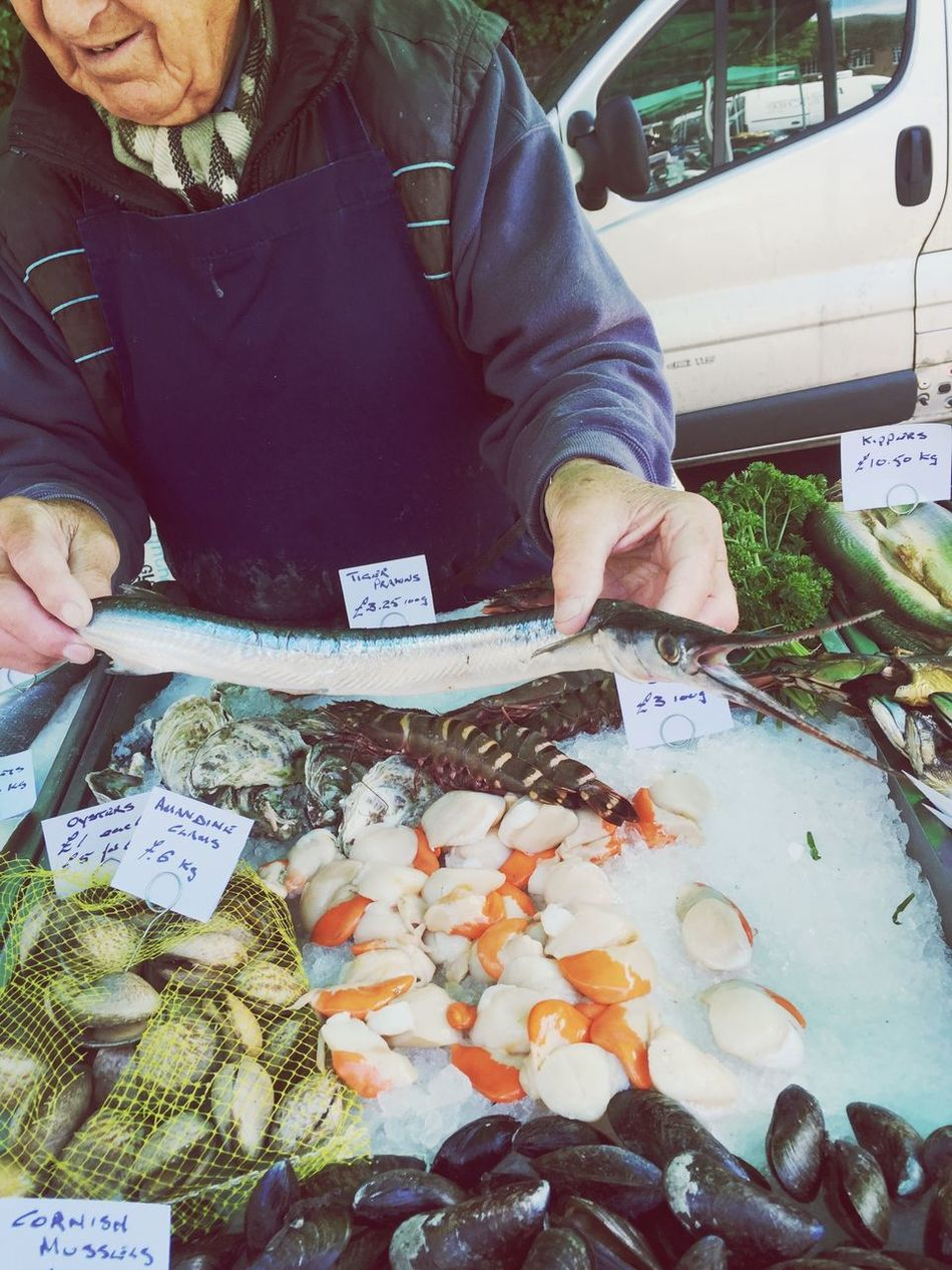 Brockley Market Fresh Produce Fish saturday morning