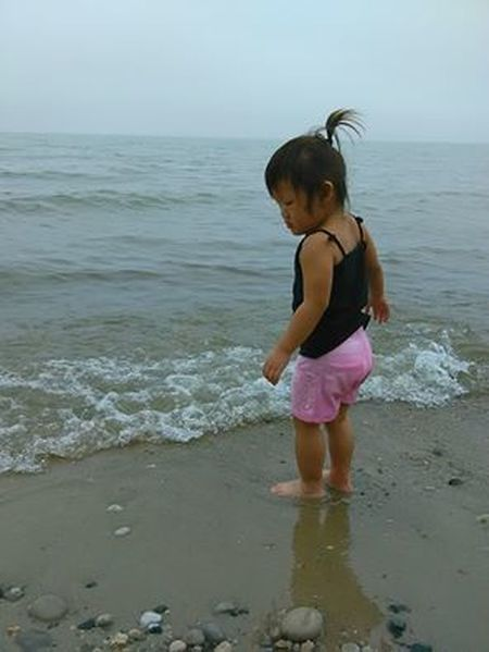 Beach Child Childhood Girls Outdoors Summer