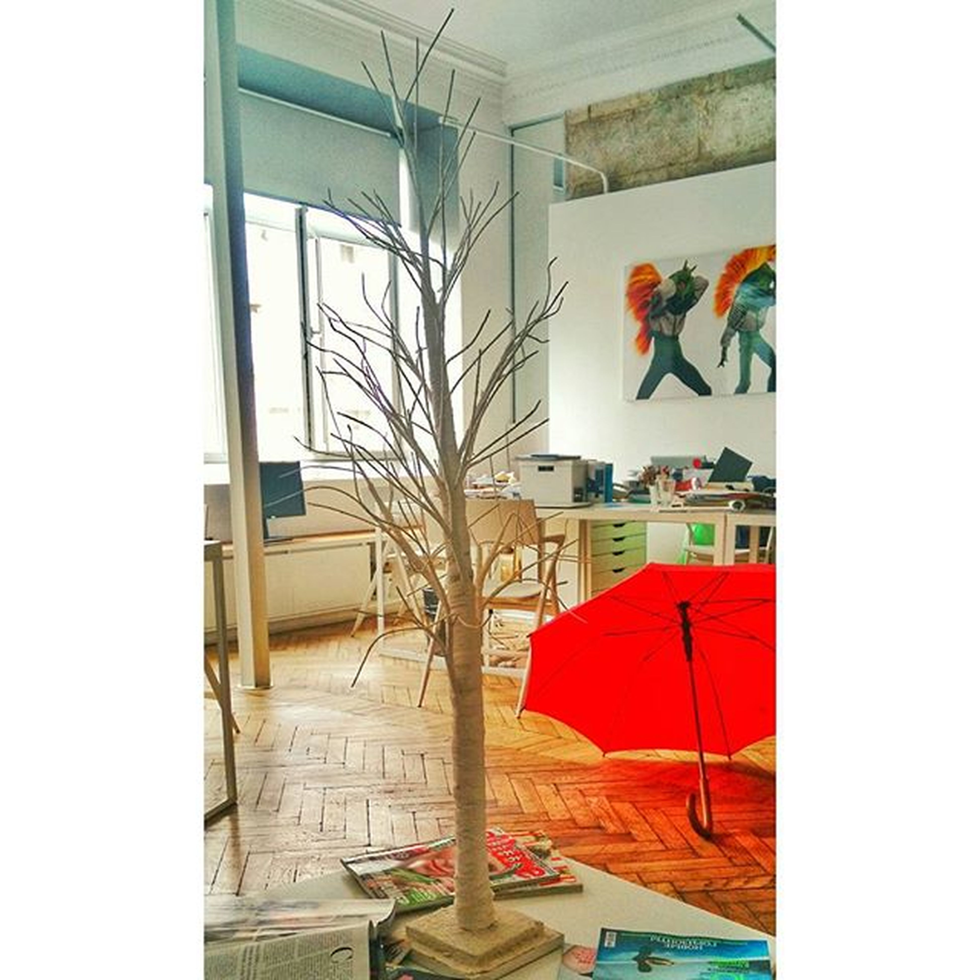 indoors, window, architecture, built structure, home interior, house, glass - material, wall - building feature, table, multi colored, no people, wall, art, absence, auto post production filter, day, creativity, transparent, art and craft, chair