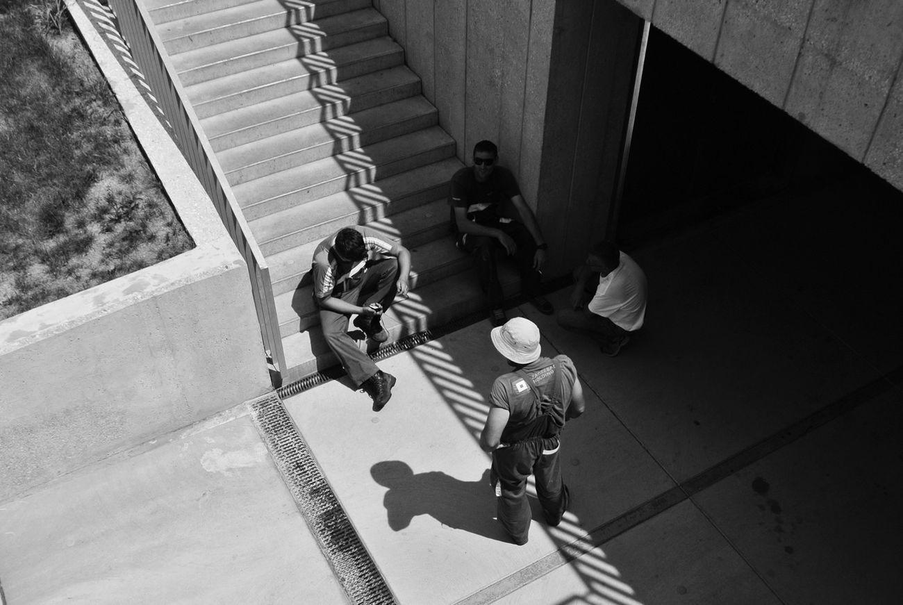 pause Nikon 1 V1 Blackandwhite Stairs