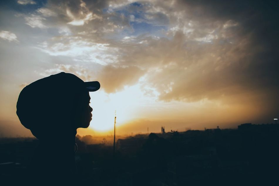 Silhouette One Person Cloud - Sky Sunset Sky Sunbeam Landscape Canonphotography EyeEm Gallery Canon Africa EyeEm