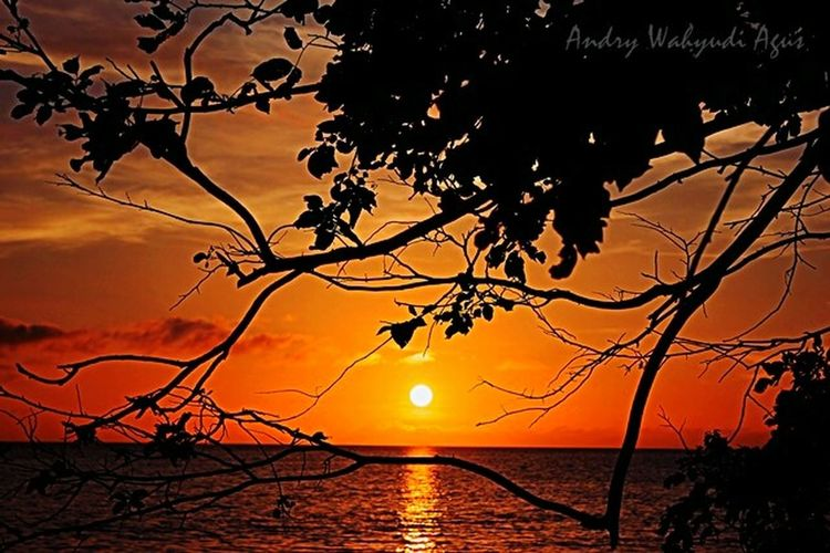 Sunset at Natuna, Taking Photos Sunset Landscape INDONESIA Natunaisland Sedanauisland Pantaimasros Dokterptt Pengabdian Sunset Silhouettes