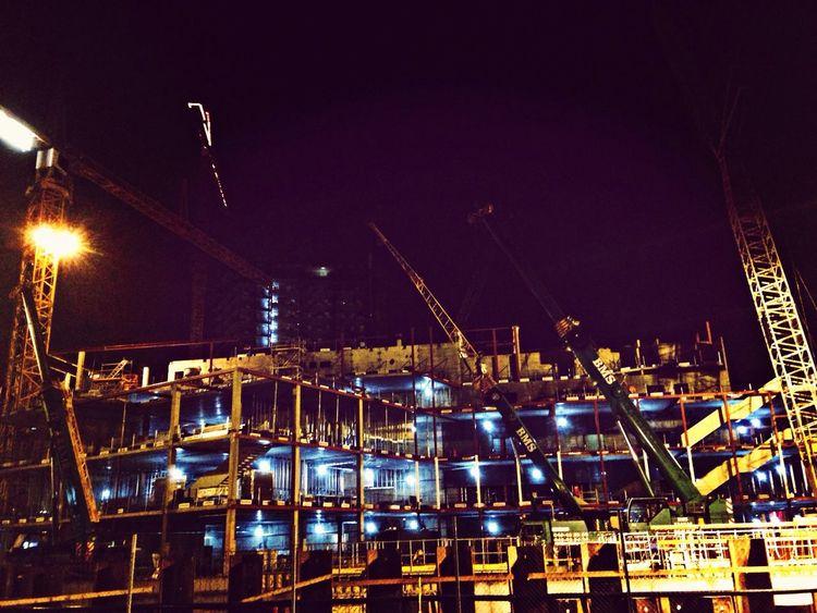 MaxArt Night Building Taking Photos