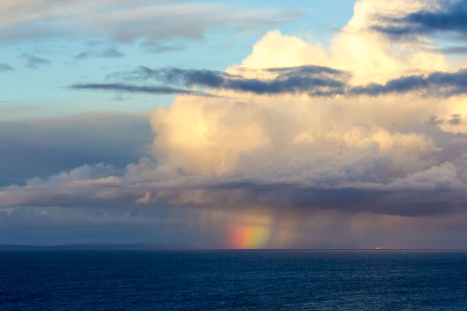 Clouds over the Bristol channel Beauty In Nature Cloud - Sky Cloudscape Day Dramatic Sky Horizon Over Water Idyllic Nature No People Outdoors Rainbow Colors Rainbows Scenics Sea Sky Sunset Tranquil Scene Tranquility Water