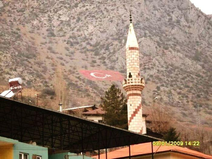 Flag Mosque Turkey Hadjin Bayrak Ay Yıldızlı Al Bayrak.. Minareler Süngü Eye4photography  EyeEm Best Shots Sektör Yapım