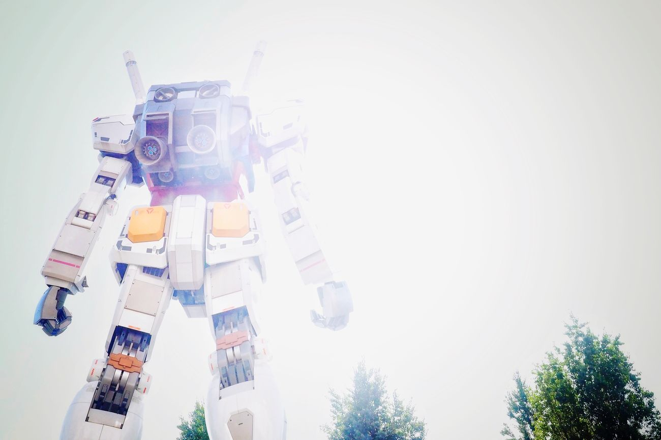 Gundam/機動戦士ガンダム Low Angle View No People Outdoors Day Gundam Olympus Om-d E-m10