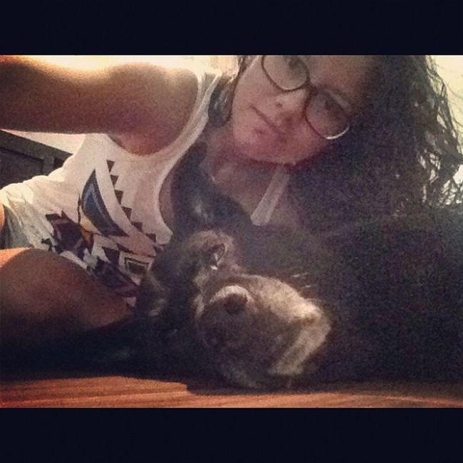 Me and Blacky ? Alwayssleeping Blacklabmix Lovehim