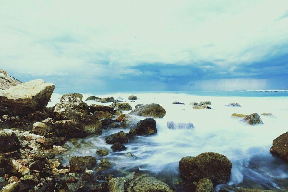 Stormy Weather Long Exposure Ocean Waves