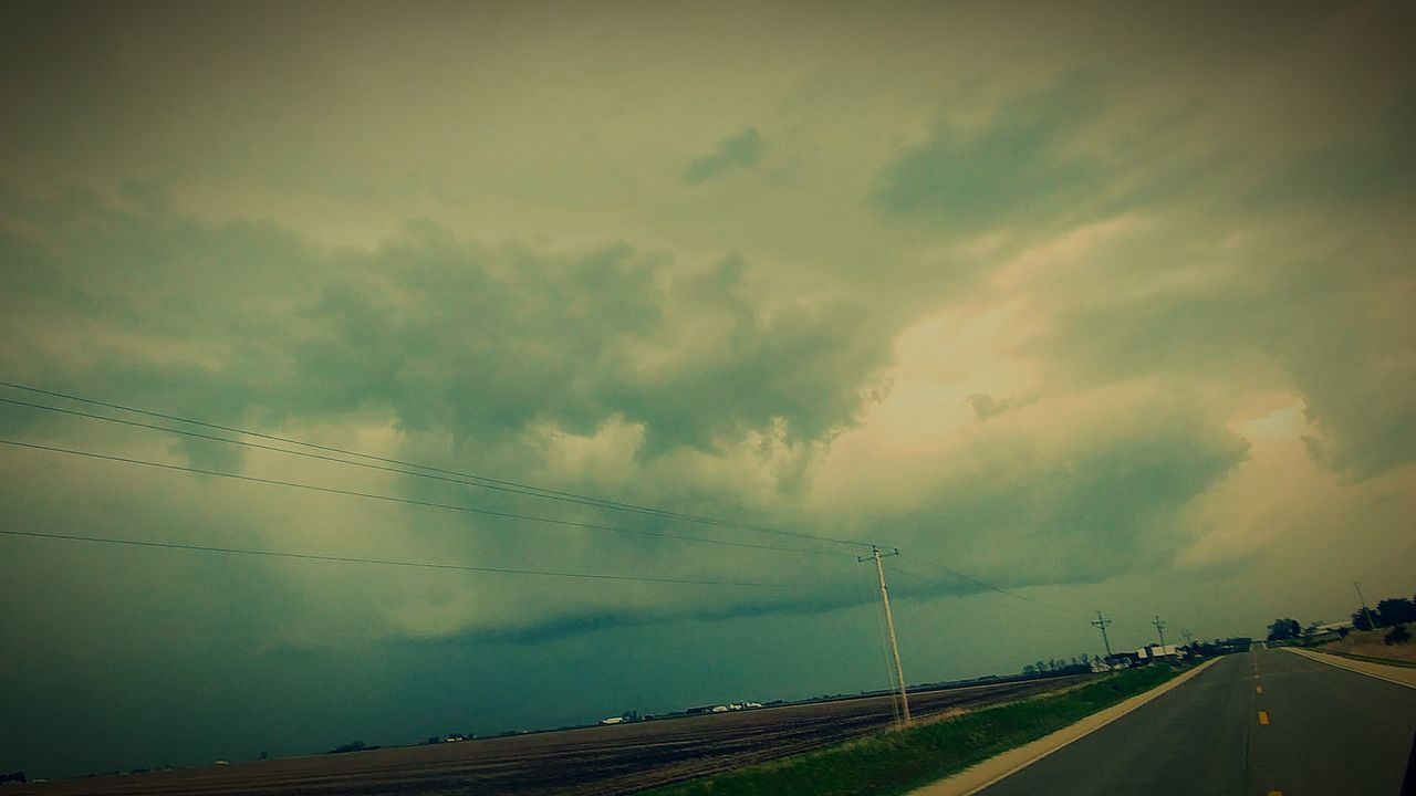 Storm Highway Storm Cloud Weather Danger Wet No People Cloud - Sky Extreme Weather Outdoors Landscape Thunderstorm Sky Beauty In Nature Weather Heaven Storm Rural Scene Spring Iowa Life Scenics Beauttiful Dramatic Sky Tranquility EyeEmNewHere AprilShowersBringMayFlowers
