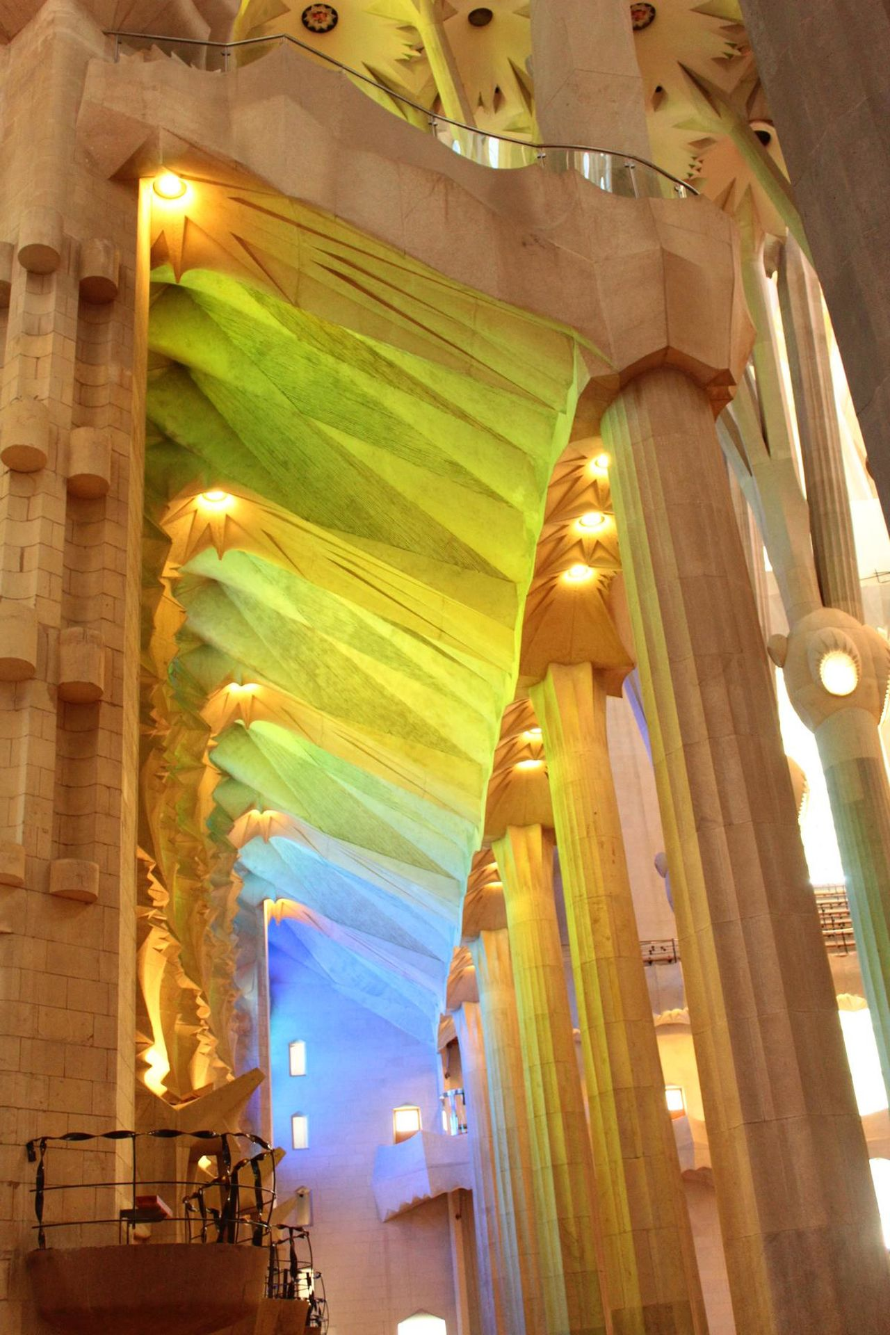 what beautiful church Travel Destinations Illuminated Architecture Built Structure No People Beauty Light Colour Glass Windows Glass Windows With Reflections Church Gaudi Indoors  Statue Sagrada Familia Barcelona