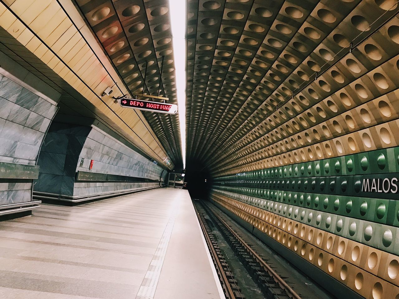 Love the metro stations in Prague. Indoors  Transportation Architecture Built Structure Subway Station Illuminated Rail Transportation Subway Train No People Technology Day Urban Photography Architecture