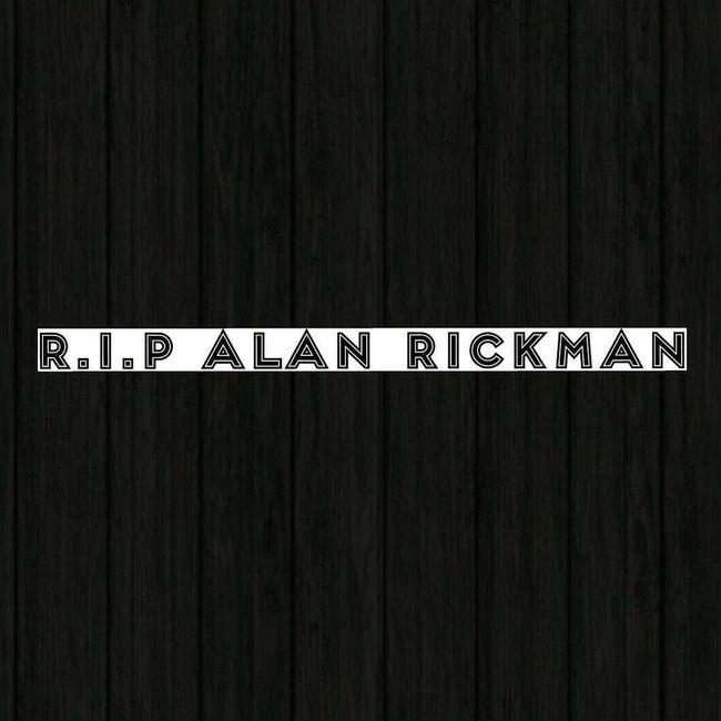 Actor Director Alan Rickman 14 January 2016