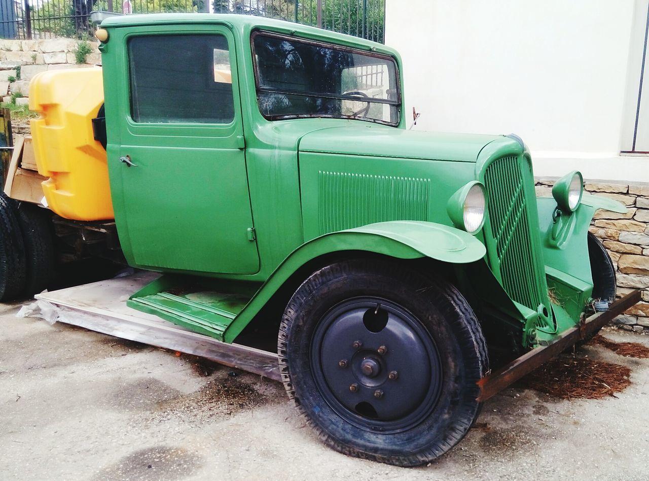 Old Truck Parked At Roadside