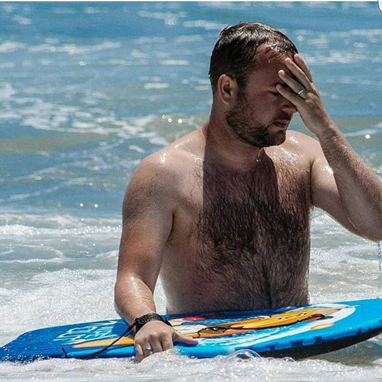 Wipeout at Santamonicabeach USA America Sea Blue Sun Instagay Instabeard Hairychest  Hairygay Gay Holiday Travel Fun Me Water Photooftheday Picoftheday Pictureoftheday