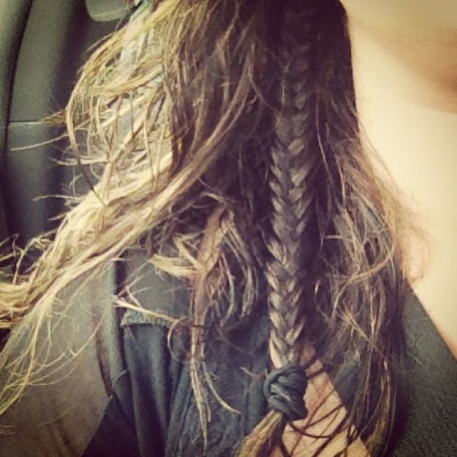 My attempt at a mini Fishtailbraid ?? Loveit Wishididnthavelayers Obsessed simple