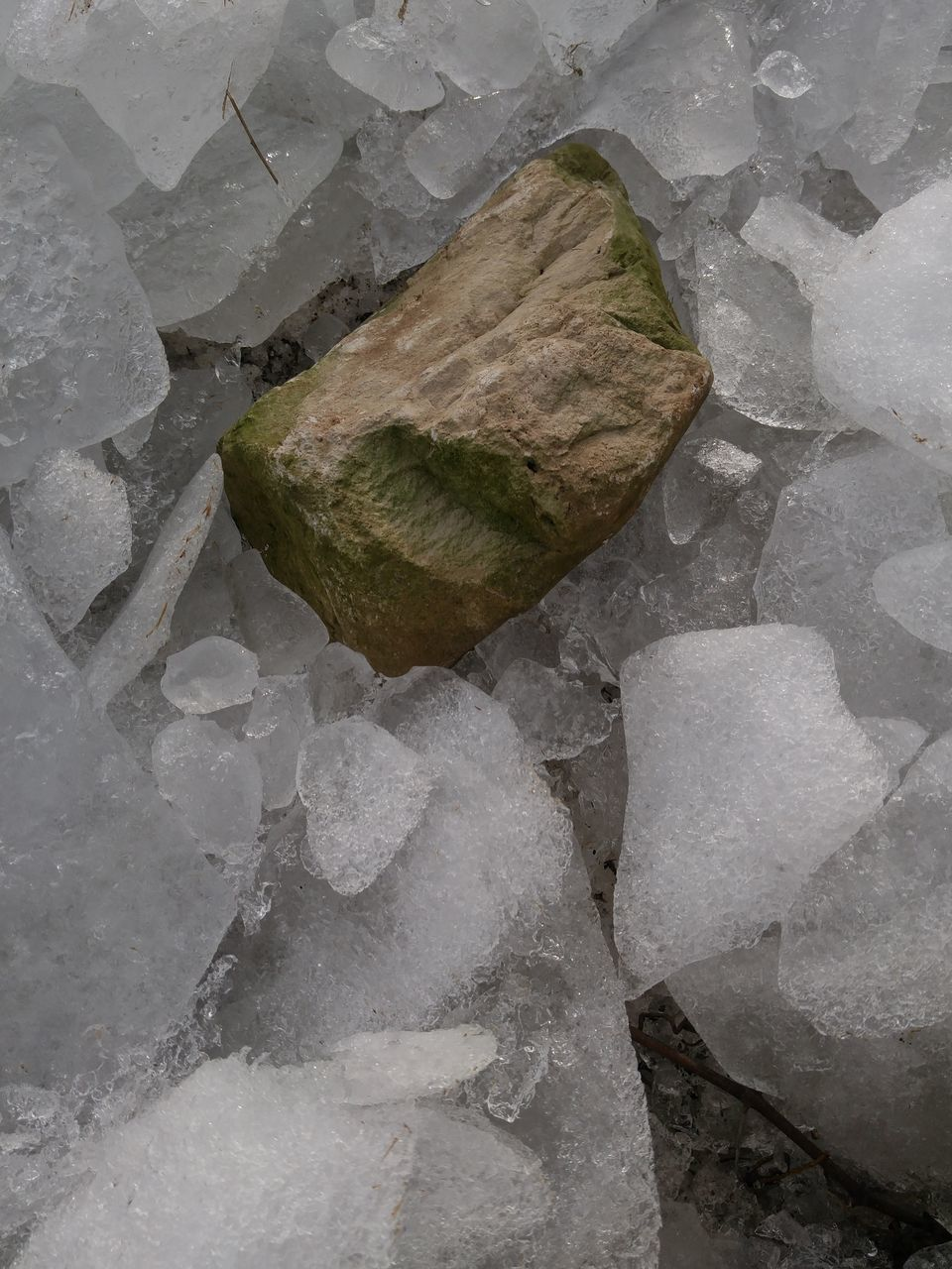 rock - object, water, no people, outdoors, day, textured, nature, beach, close-up