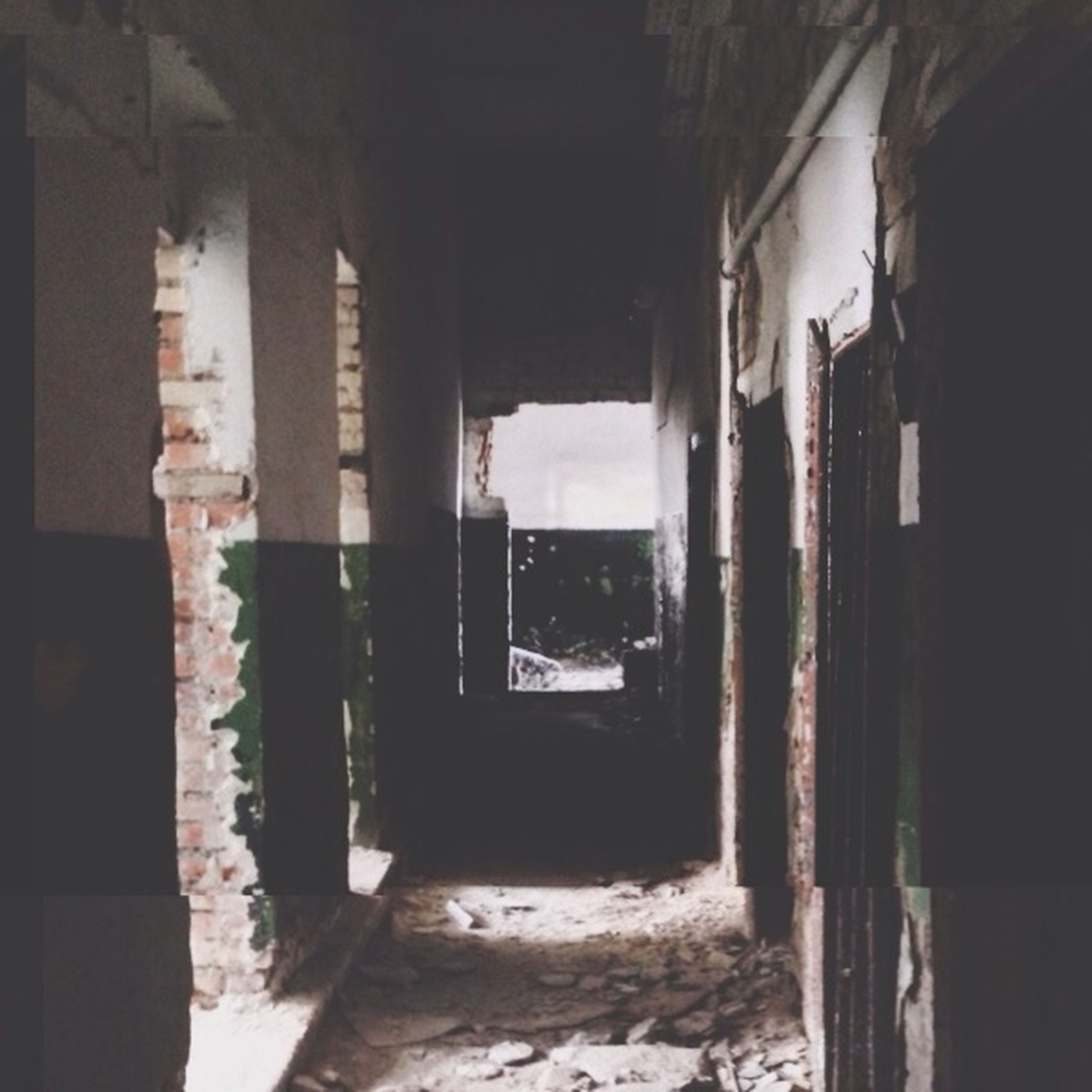 indoors, architecture, built structure, abandoned, window, architectural column, old, interior, old ruin, damaged, corridor, obsolete, run-down, history, column, building, ruined, deterioration, arch, day