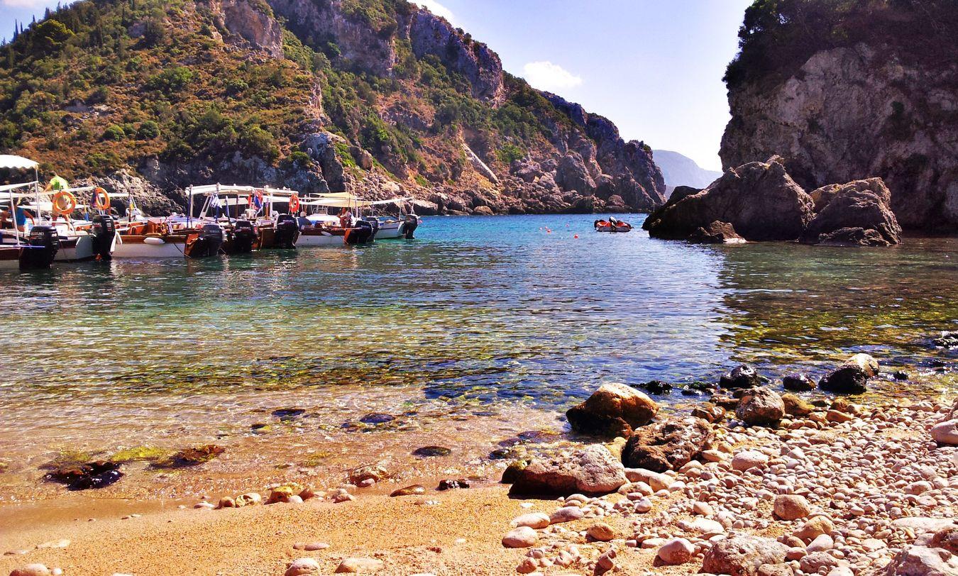Paleokastritsa Corfu Beach