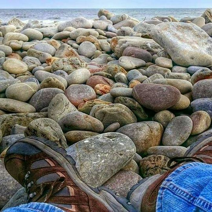 Wales Photography Taking Photos Check This Out Seascape Pebbles Pebble Beach Myperspective Beachphotography Beach Boots Walking Around Hello World Relaxing That's Me Outdoors Nature Greatoutdoors Enjoying Life Randomshot Ocean Relaxing Landscape Escaping A Moment Of Zen
