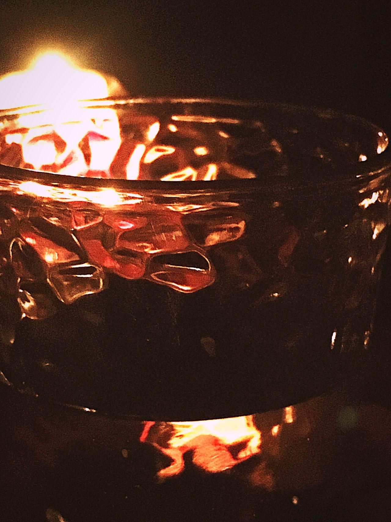 Overnight Success Tranquility Vidrio Y Luz De Vela Pequeño Fuego Noche De Velitas Cena