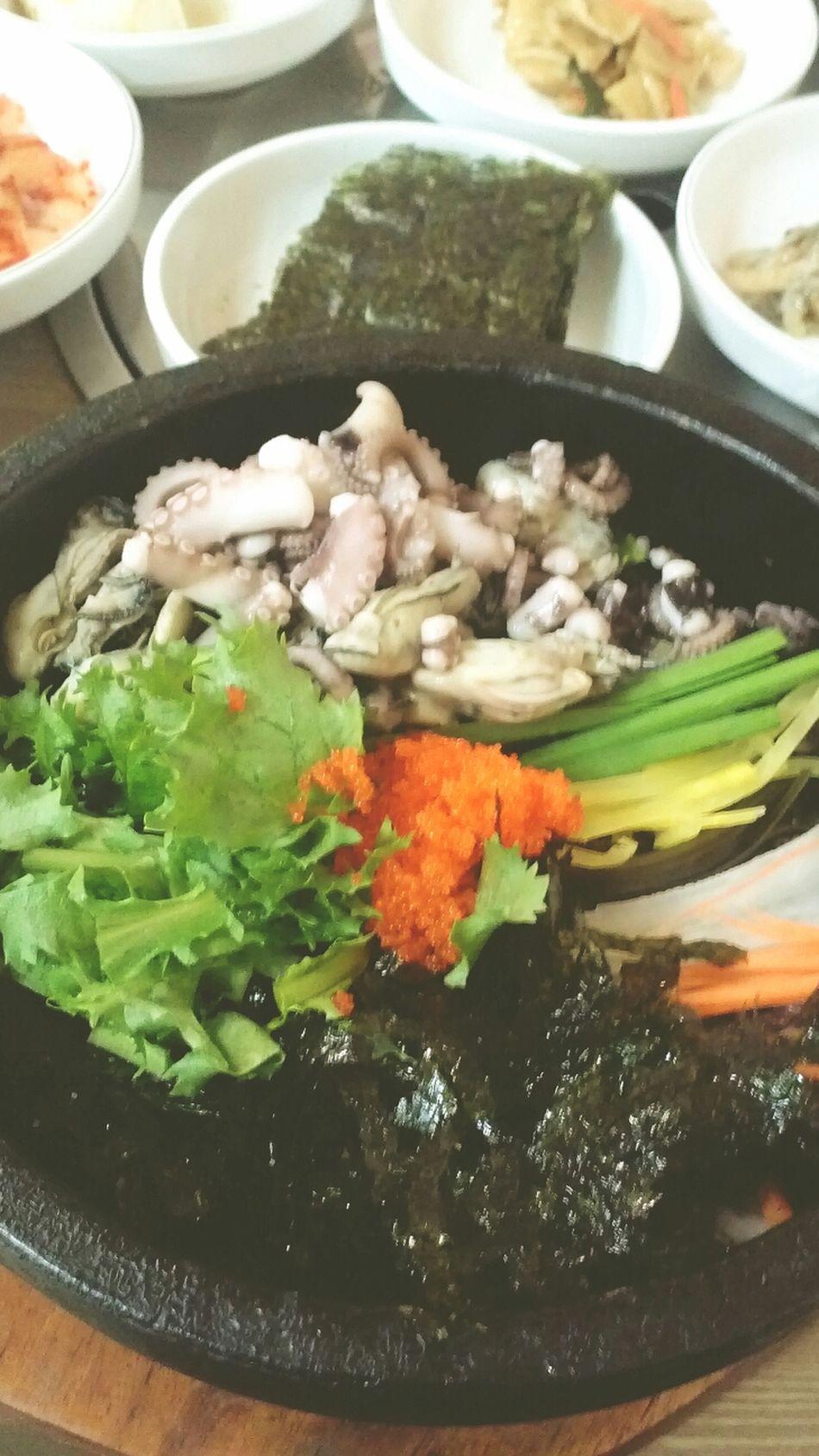 Yammy! 낙지굴밥 Delicious Korean Food