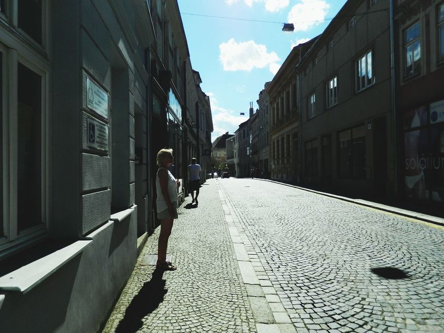 Traveling Czech Republic Znojmo Sky Small City Street Trip Summer Holiday Old Town Summertime