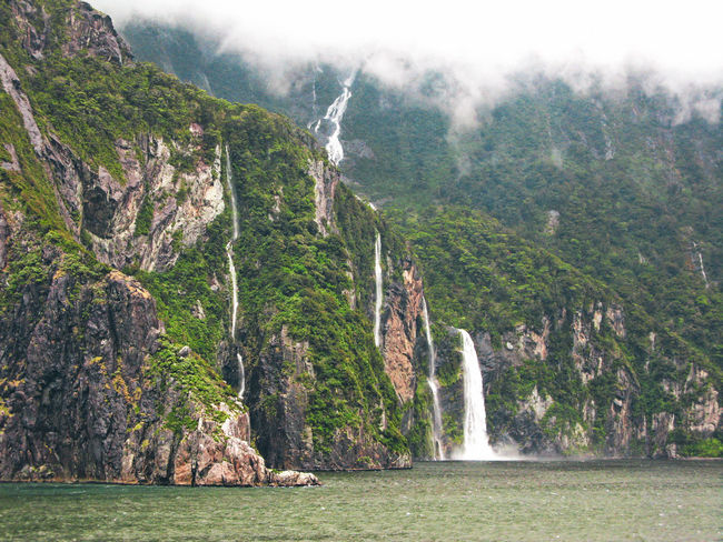 Waterfall Waterfront Waterscape Fiordland Fiordland National Park