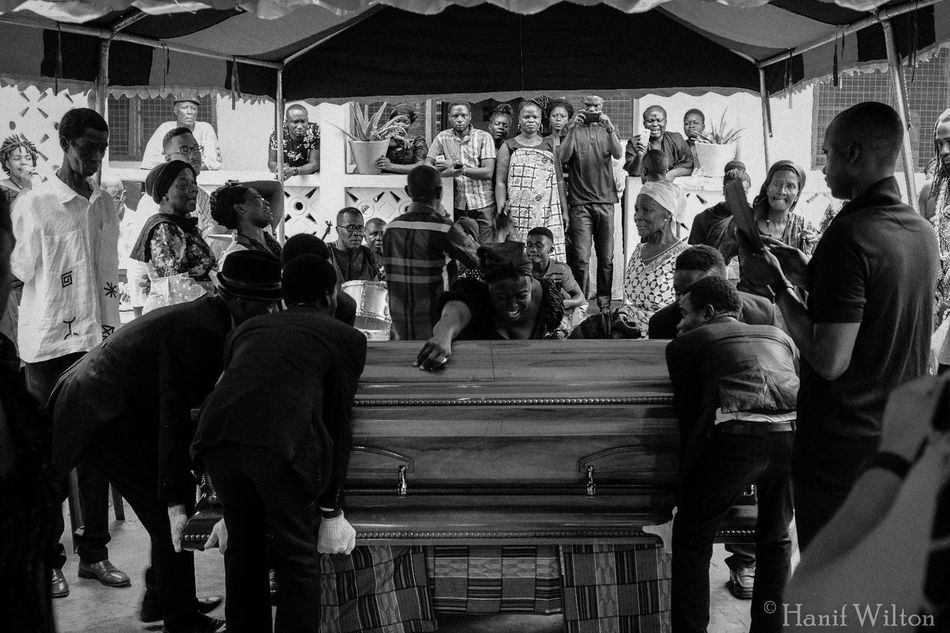 Funeral Ceremony Coffins  Ghana People Street Photography Blackandwhite PhotographyGhana West Africa.