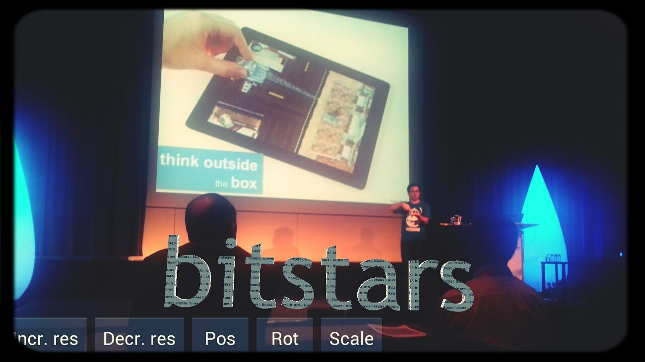 Think outside of the box! Very nice talk in the evening. I putSome AR To The Scene :) Mtc13 Bitstars Telekom Mtc13 #bug in #eyeem