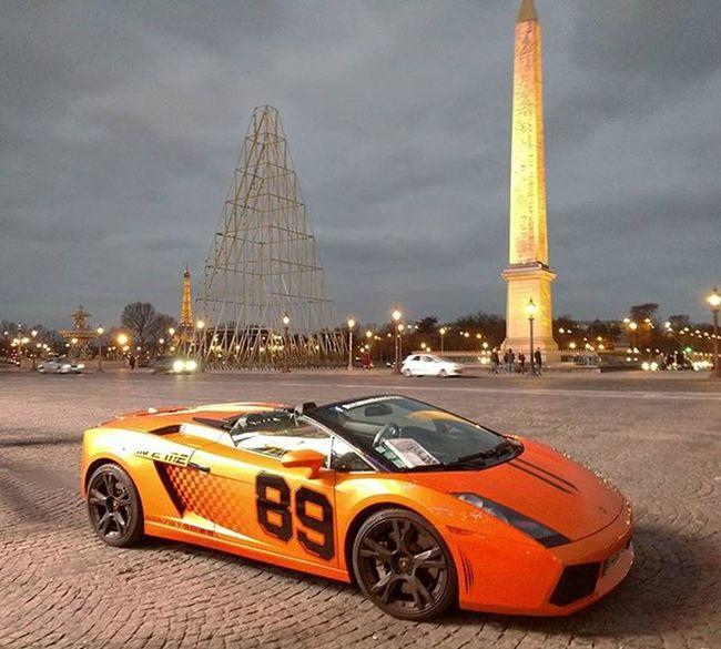 An Italian in Paris Lamborghini Gallardo Supercarspotting Supercar Paris Eiffeltower Champselysées Exotic Luxurylife Mobilephotography