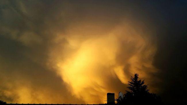 Fire In The Sky Calm After The Storm Orange Burnt Orange EyeEm Vision EyeEm Nature Lover Cloudporn Sunset Dusk Showcase: February