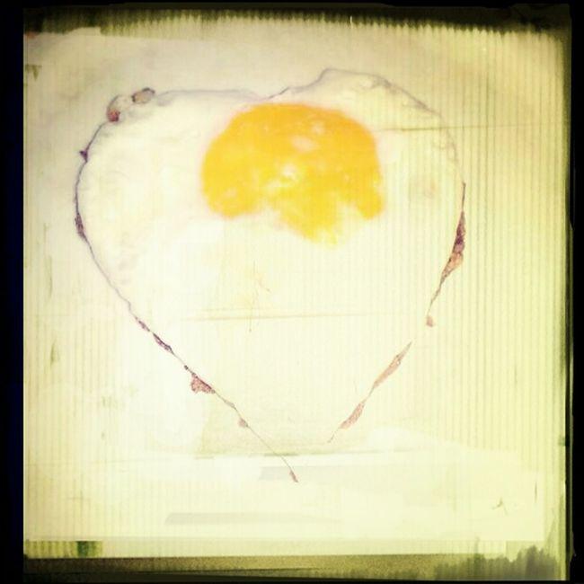 Good morning Early Breakfast Heart Egg