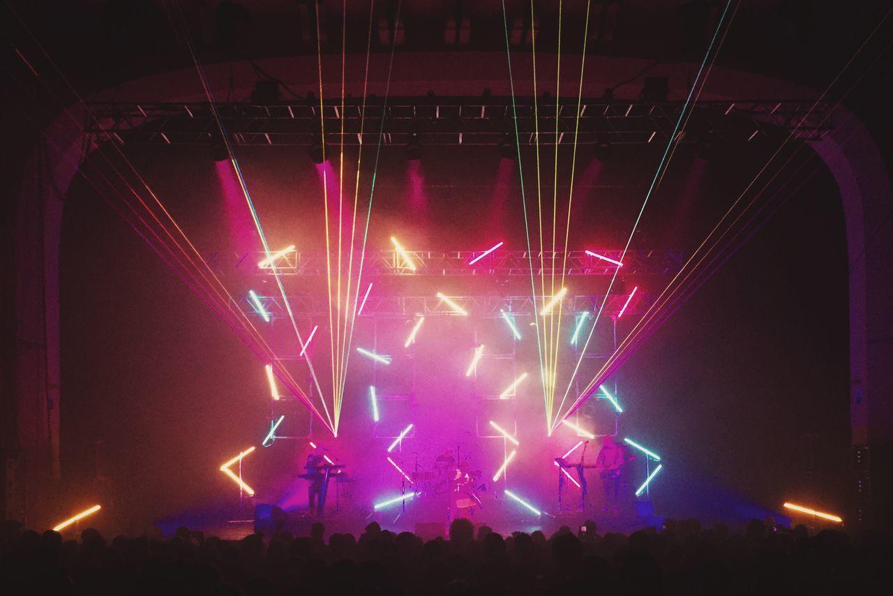 Glitch Concert Gigs Neon Fluo  Colorful Venue London