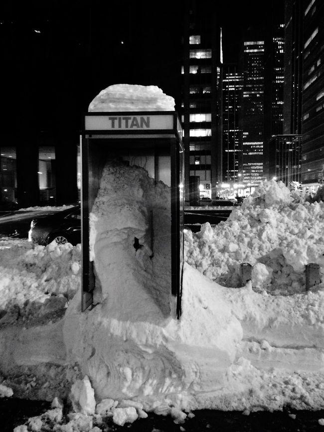Nyc Snowpocalypse phonebooth First Eyeem Photo