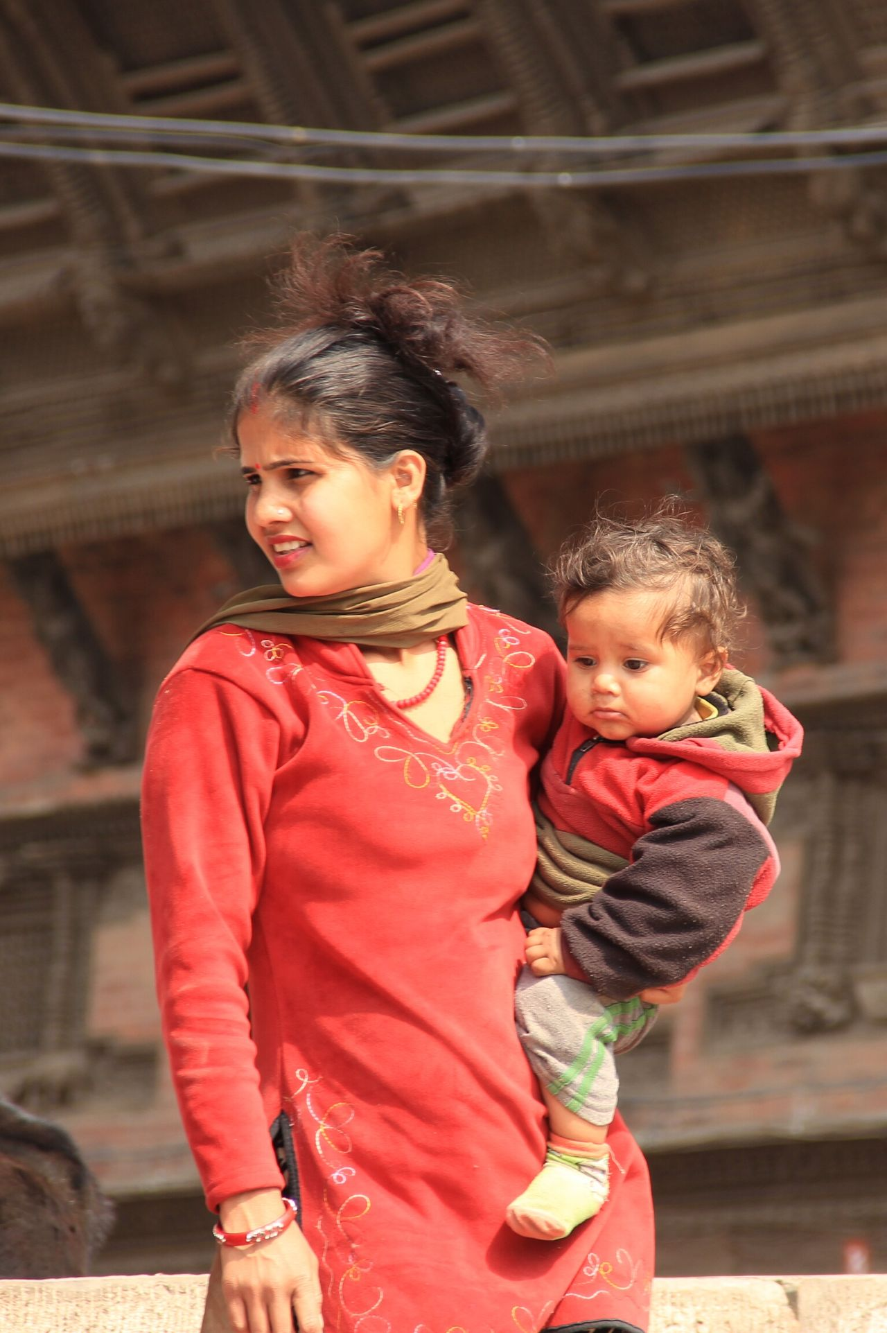 Mother And Child Beautiful Woman Traditional Clothing Nepalipeople😊 nepal travel Women Around The World
