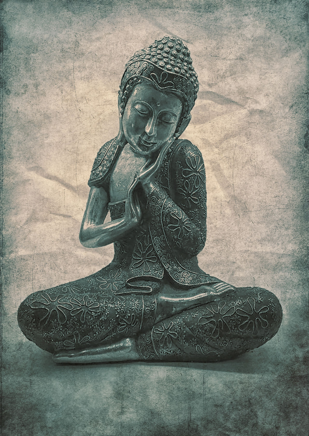 Buddha in a grungy style. Ancient Buddha Buddha Image Compassion Meditation Old Peace Peaceful Siddharta Siddharta Gautama SiddhartaGautama Soft Soft Grunge Soft Light Stillness Vignette