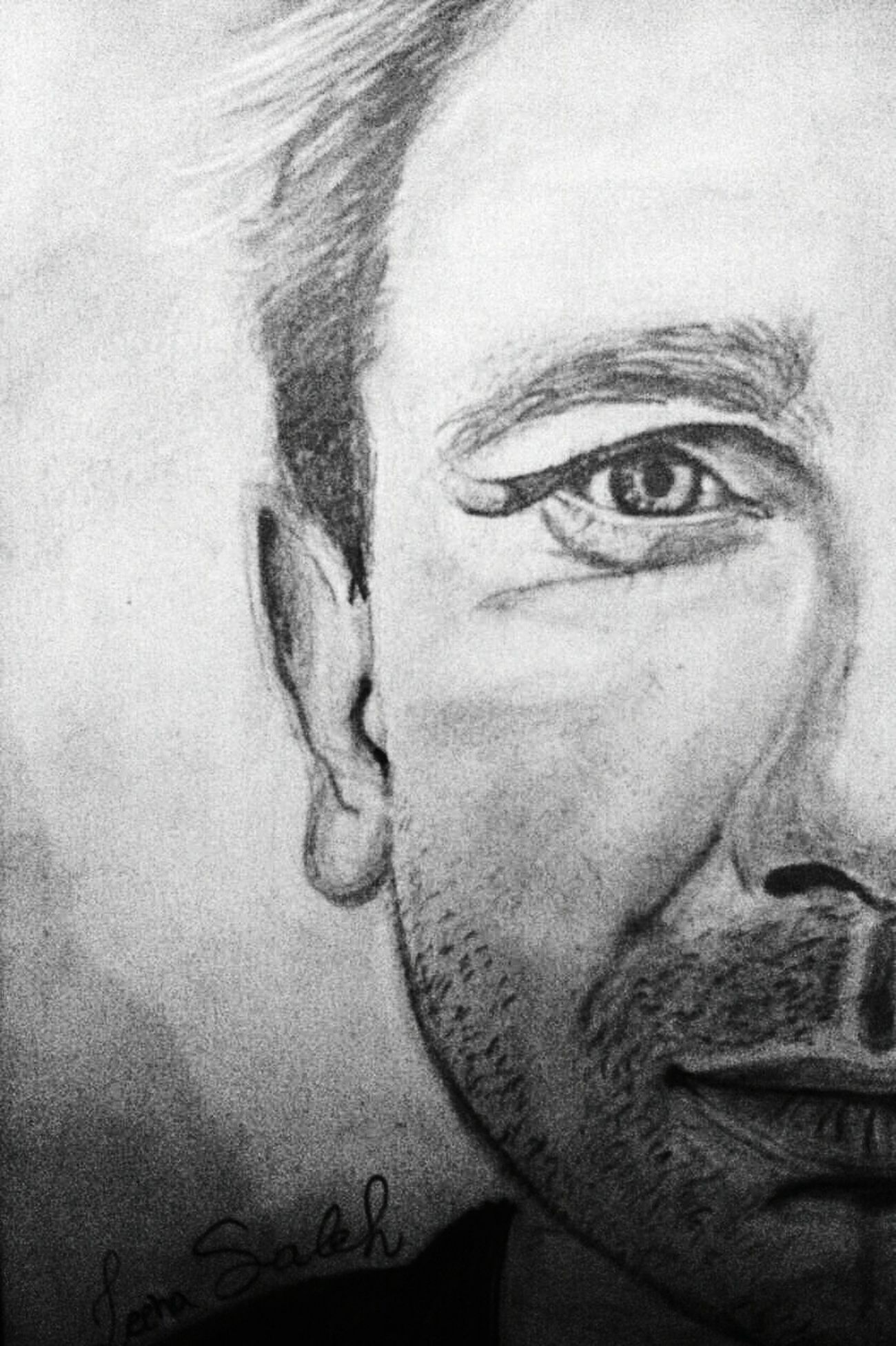 Half Half Face Half Face Portrait Half Portrait Eye Details Eye Eye Brow Eye Brow Details Mouth Mouth Details Half Head One Eye . Close-up Sketch My Art Work White & Black White Sketch Sketching Portrait Of A Man  EyeEmArt EyeEm Gallery Pencil Pencil Drawing Art Gallery Love Drawing ❤