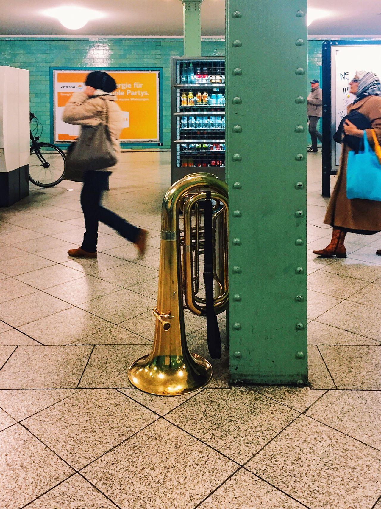 Random. Notes From The Underground Alexanderplatz Subway Train Station Tuba