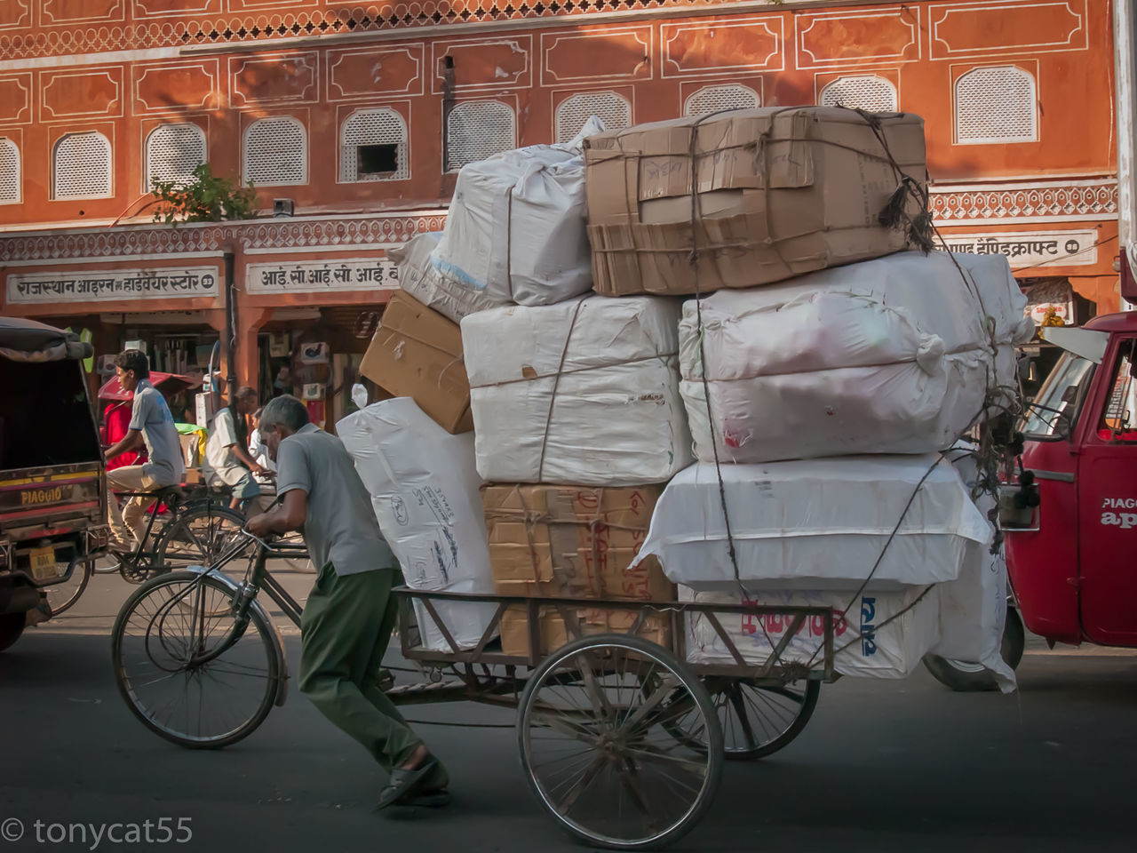 Abundance Architecture Byke Byke Transport Day Hard Work India Man Mode Of Transport Old Oldman Outdoors Parking People Street Streetphotography Travel Destinations