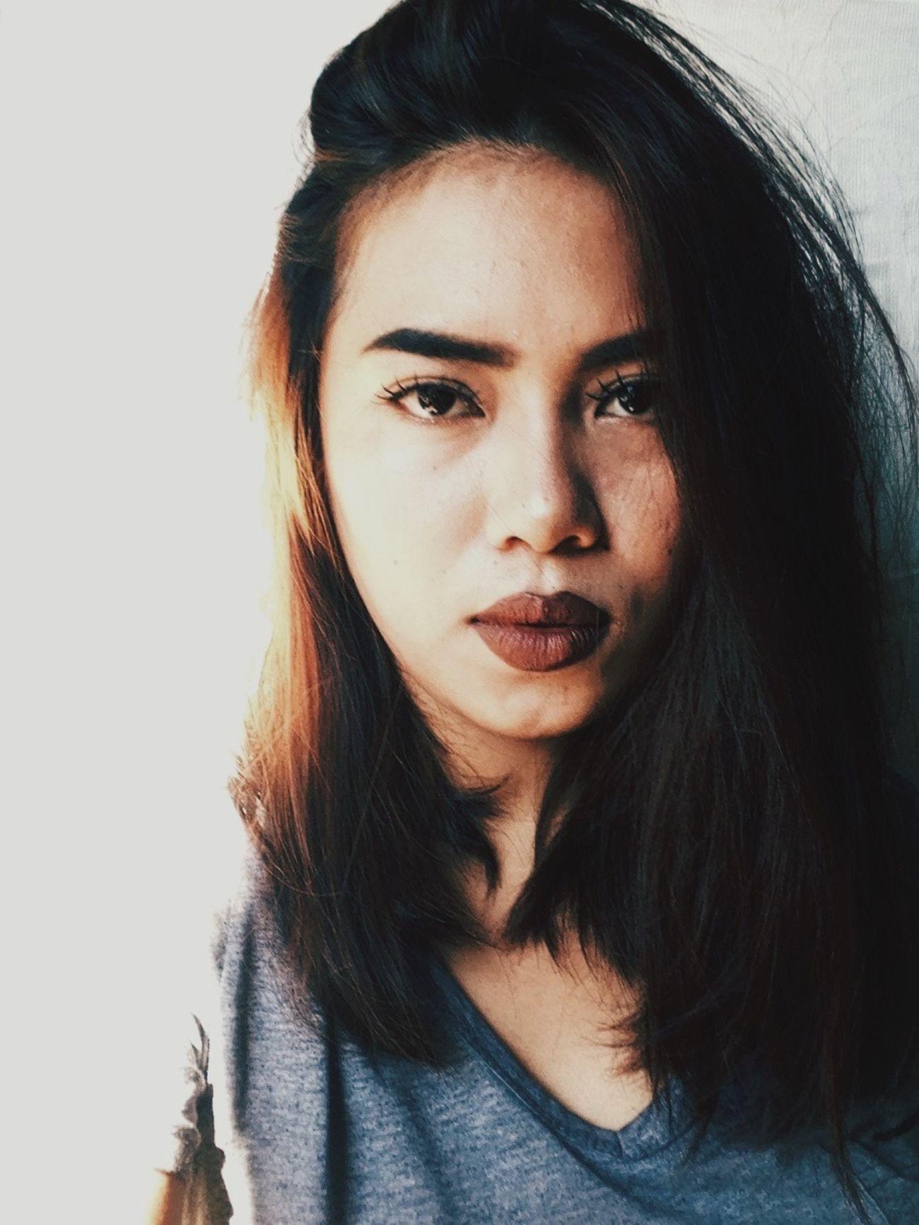 Enjoying Life Self Portrait Selfie ✌ Side Hair' ❤️