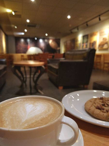 Renegade Food And Drink Coffee Cup Indoors  Espresso Latte No People Frothy Drink My Year My View Cappuccino Coffee Break Cookie