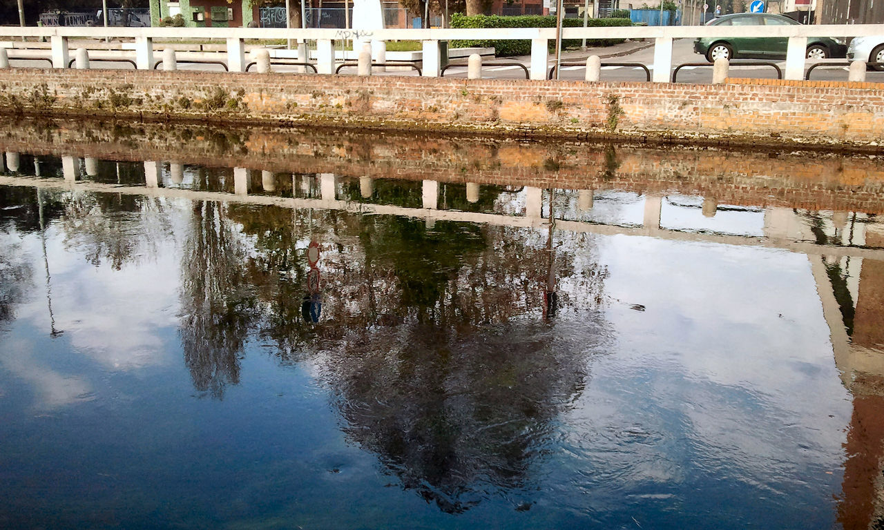Naviglio grande Blue Sky Leading Naviglio Grande No Humans, No Chaos. Outdoors Reflection River Tree Water The Week On Eyem Blue Wave