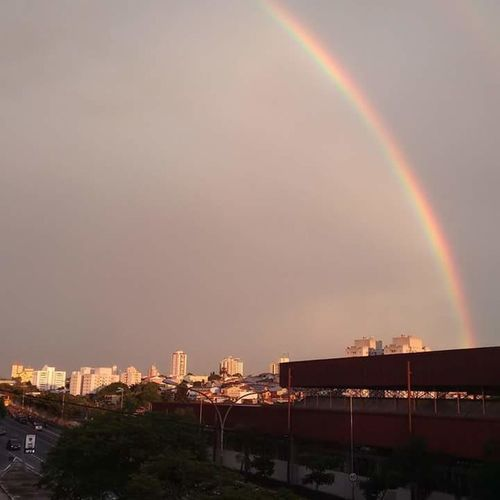 Porque depois da tempestade,sempre vem o arco iris 🌎🌩 Rainbow Cityscape Multi Colored Sao Paulo - Brazil Tbt💕 Urban Skyline